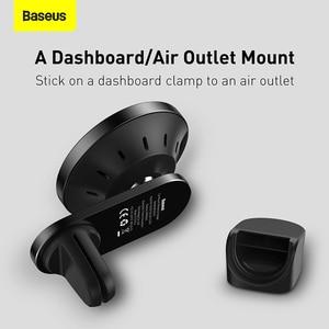 Image 5 - Baseus 15W supporto per auto caricabatterie Wireless centro di aspirazione magnetico cruscotto supporto uscita aria ricarica Wireless per iPhone serie 12