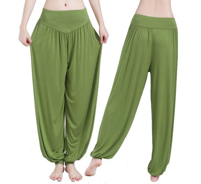 Wide Leg Yoga Pants Women Loose Pants Long Trousers for Yoga Dance  M L XL XXL XXXL Soft Modal Home Pants Yoga TaiChi Pants 3