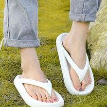 Thong Sandals Platform Wedges Flip-Flop Bathroom Slippers Slides Summer Shoes Bottom
