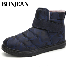 Winter Unisex Style Adult Brand Fashion Shoes Outdoor Camouflage Waterproof Men Boots Safety Fur Ankle Snow Boots Lover Shoes