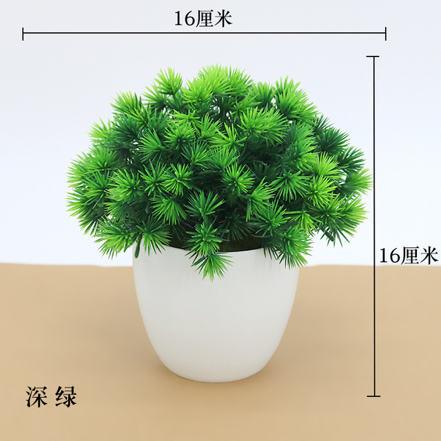 Artificial Plants Potted Bonsai Green Small Tree Plants Fake Flowers Potted Ornaments for Home Garden Decor Party Hotel Decor 3