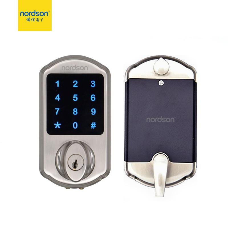Nordson Original Smart RFID Door Lock Metal Touch Screen Keypad Battery Powered Password Deadbolt Digital Lock For Home Office