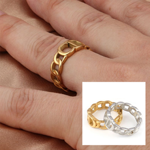 Stainless Steel Rings For Women Statement Ring Letter Women's Rings Punk Open Finger Gold Color Geometry Ring Rings Jewelry