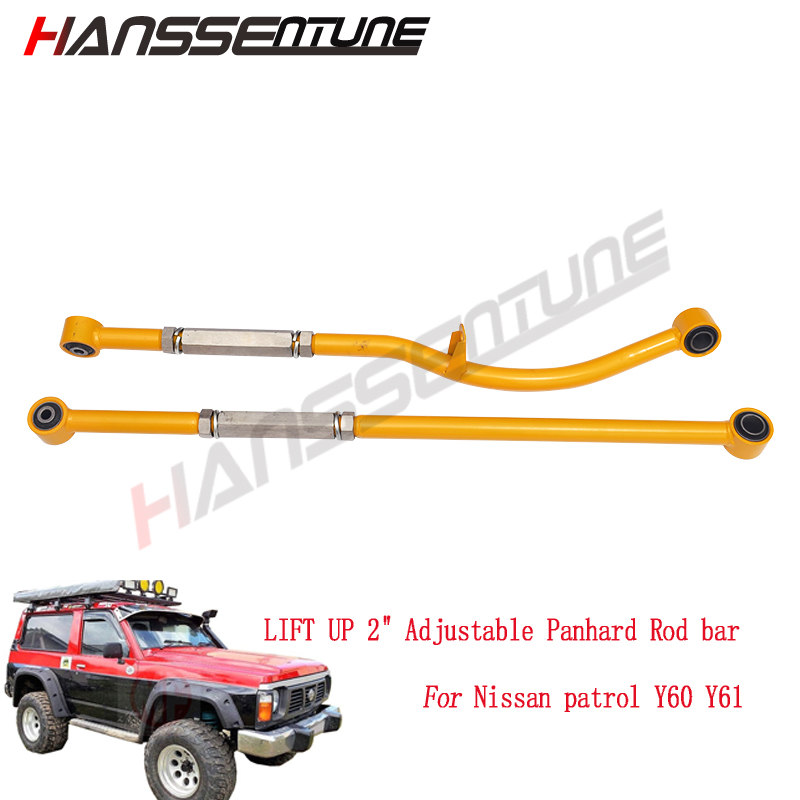 4x4 suspension Lifting Kits rear and front 2 Adjustable Panhard Rod bar fit for patrol Y60 Y61 image