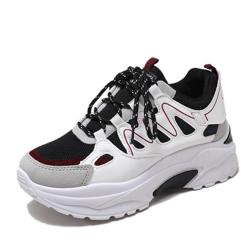 Autumn Winter Sport Shoes Woman Leopard Print 5cm Platform Walking Sneakers Women Outdoor Running Shoes Height Increasing A513 53