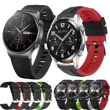 22mm banda para huawei relógio gt ativo/elegante esporte silicone pulseira para huawei gt2 46/gt 2 pro/honra magia 2 46 substituir cinta