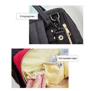 Image 4 - Disney Diaper Bag Backpack Baby Bags for Mom Wet Bag Fashion Mummy Maternity Diaper Organizer USB Travel Bag Stroller Hanging