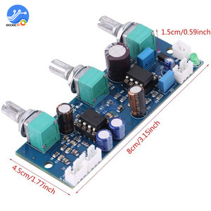 Image 3 - NE5532 Stereo przedwzmacniacza przed płyta wzmacniacza Audio 2 kanały moduł wzmacniacza sterowania na telefon przedwzmacniacza HIFI moduł Amplificador