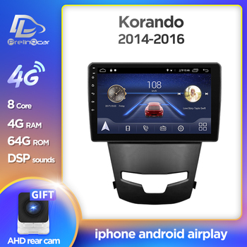 Prelingcar Android 10.0 For SsangYong Korando 3 Actyon 2 2013-2017 Car Radio Multimedia Video Player GPS Navigation NO DVD 2 Din image