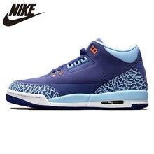 Air Jordan 3 GS синяя кепка AJ3 темно-фиолетовая Женская Баскетбольная обувь, удобные уличные кроссовки 441140-506