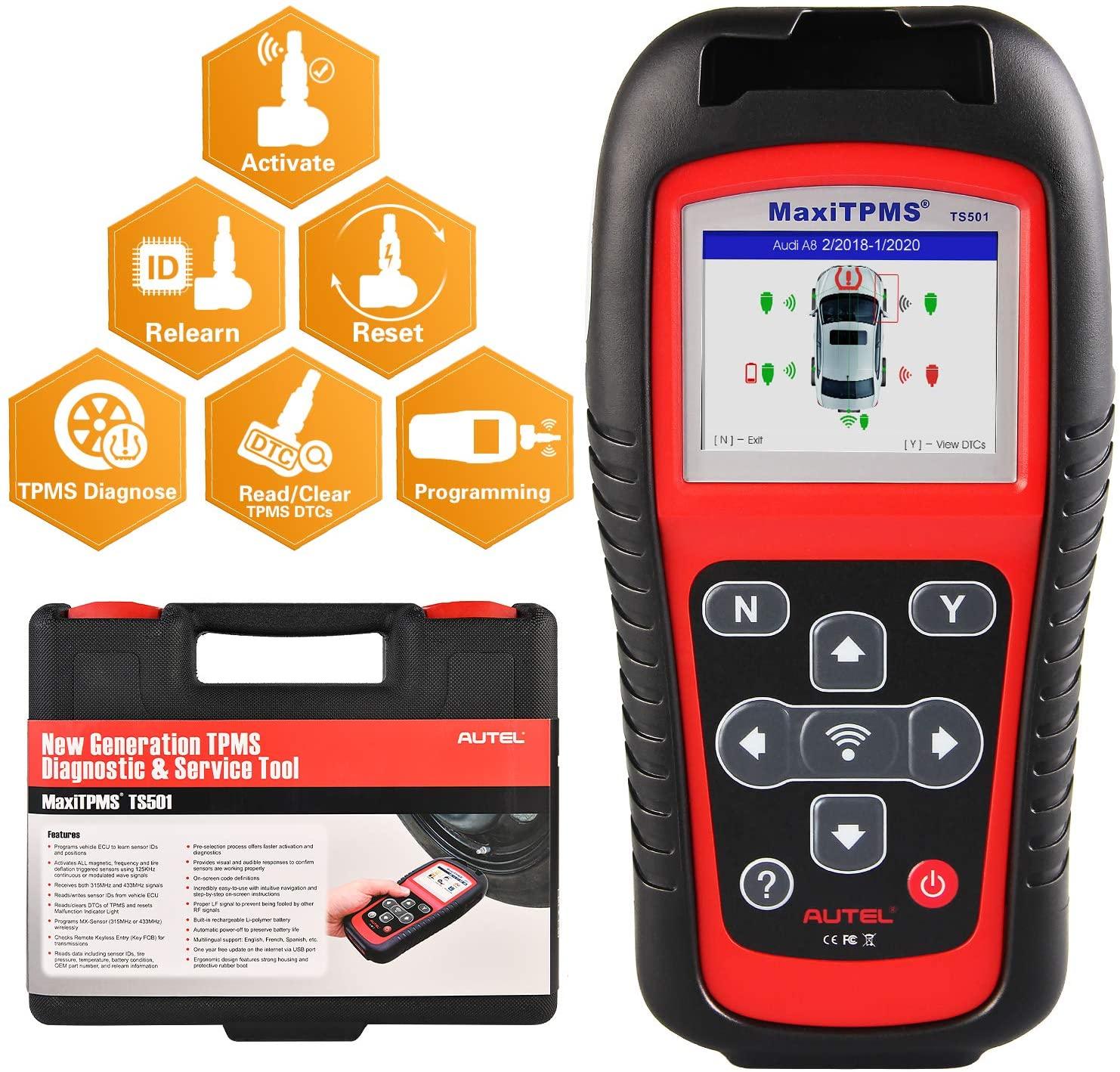 Autel TS501/TS508K TPMS Service tool S tire pressure monitoring system Reset tool Activate programing sensor and Read DTC code|maxitpms ts501|tire pressuretpms sensor - AliExpress