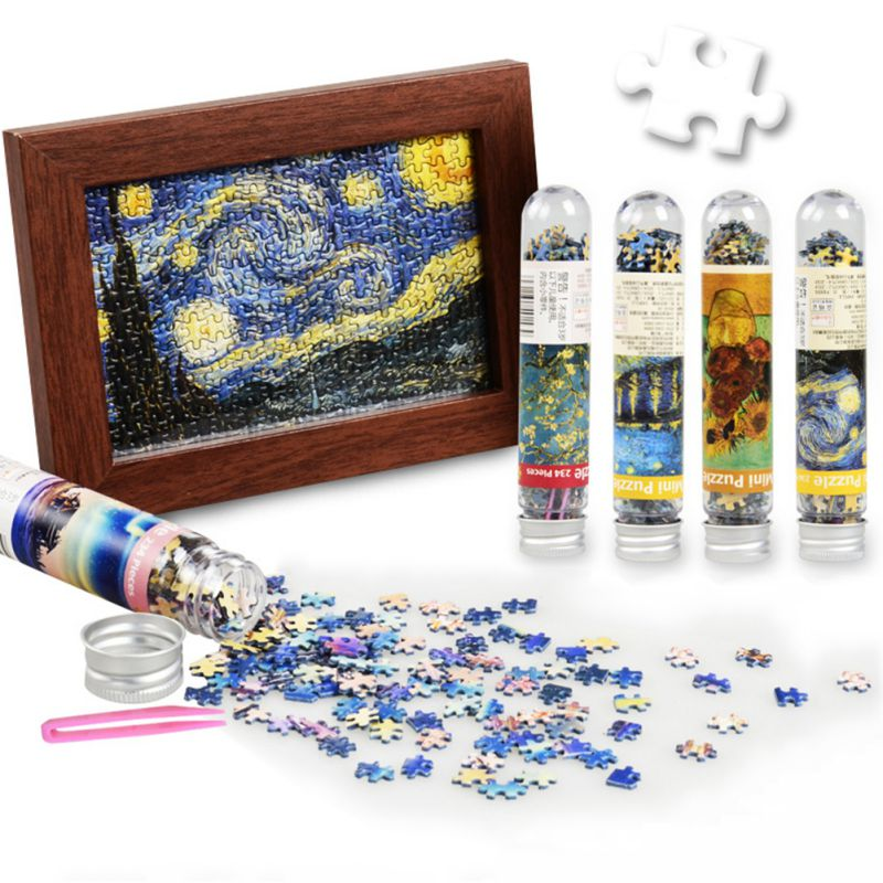 Adult Puzzle Jigsaw Landscape Small Test Tube Pocket Gift Small Puzzle 234 World Famous Painting Landscape Home Decor