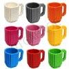 360ML Eco Friendly Cute Lego Compatible Coffee Tea Mug In Car In Mugs Cup For Kids Milk Coffee Travel Water Mug Bottle For Girls 6