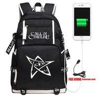 New Game Call of Cthulhu Backpack Travel Shoulder Laptop Bags Cosplay Anime Kids Teens School Student Bags Bookbag