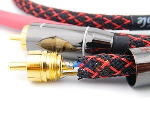 Image 4 - Hifi Verstärker RCA Kabel Audio TV AMP DAC Draht 6N OFC Linie 4 RCA Stecker Professionelle Für MP3 DVD Player