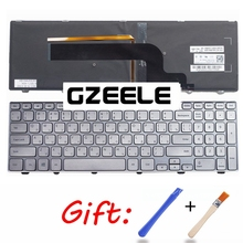 Russian Keyboard for DELL for Inspiron 15 7000 Series 7537 RU Keyboard Backlit with SILVER FRAME