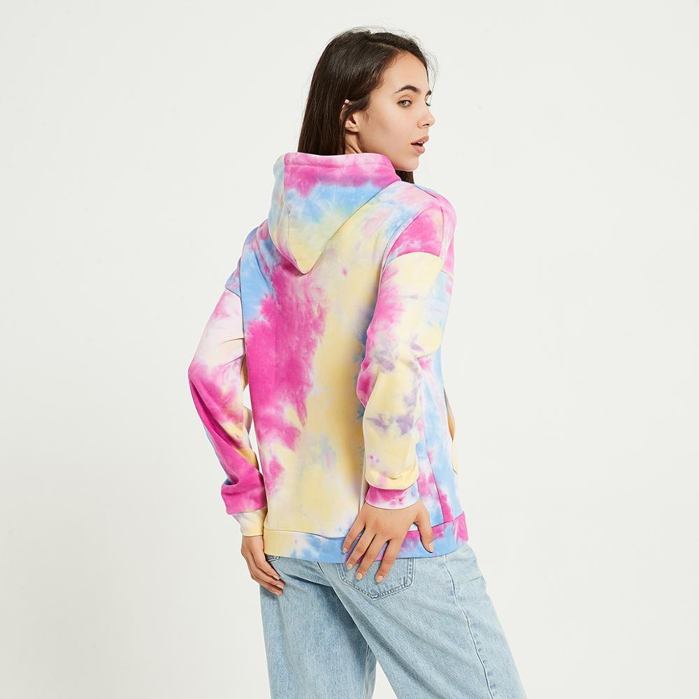 Wixra Womens Tie-dye Sweatshirts Femme New Fashion Hot Hoodies Pocket Long Sleeve Autumn Winter Casual Streetwear Tops 4