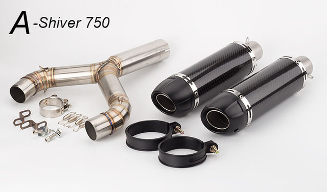 Carbon Fiber Exhaust Slip-On For Aprilia Automobiles & Motorcycles Unisex color: A-shiver750|B-shiver750
