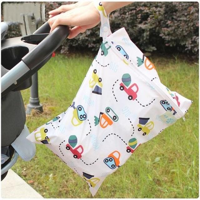 Bolsa de pañales para bebé de 30x40cm, impermeable, reutilizable, con cremallera