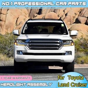 Image 4 - Accesorios de coche faros LED para Toyota Land Cruiser 17 19 para faro LED DRL lente doble haz H7 lente HID Xenon bi xenon