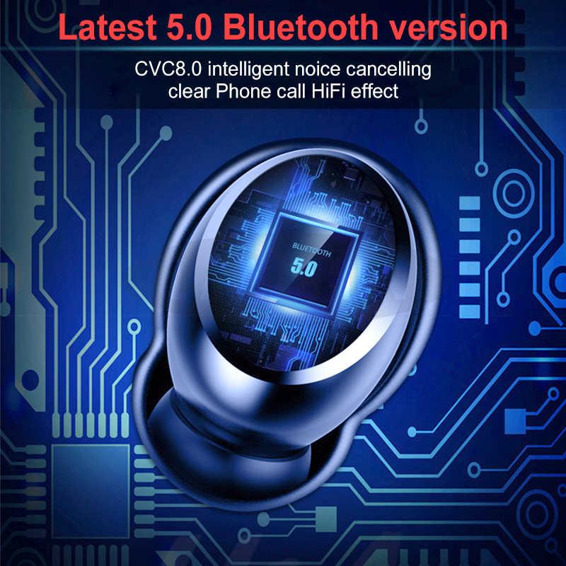 ワイヤレス bluetooth 5.0 イヤホン IPX7 防水 4000 2600mah のパワー銀行 tws で 9D ステレオスポーツ bluetooth イヤホン
