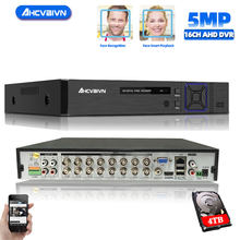 16 Channel AHD DVR 4MP 16CH AHD/CVI/TVI DVR 4M CCTV Video Recorder Hybrid DVR NVR HVR 5 In 1 DVR for surveillance System(China)