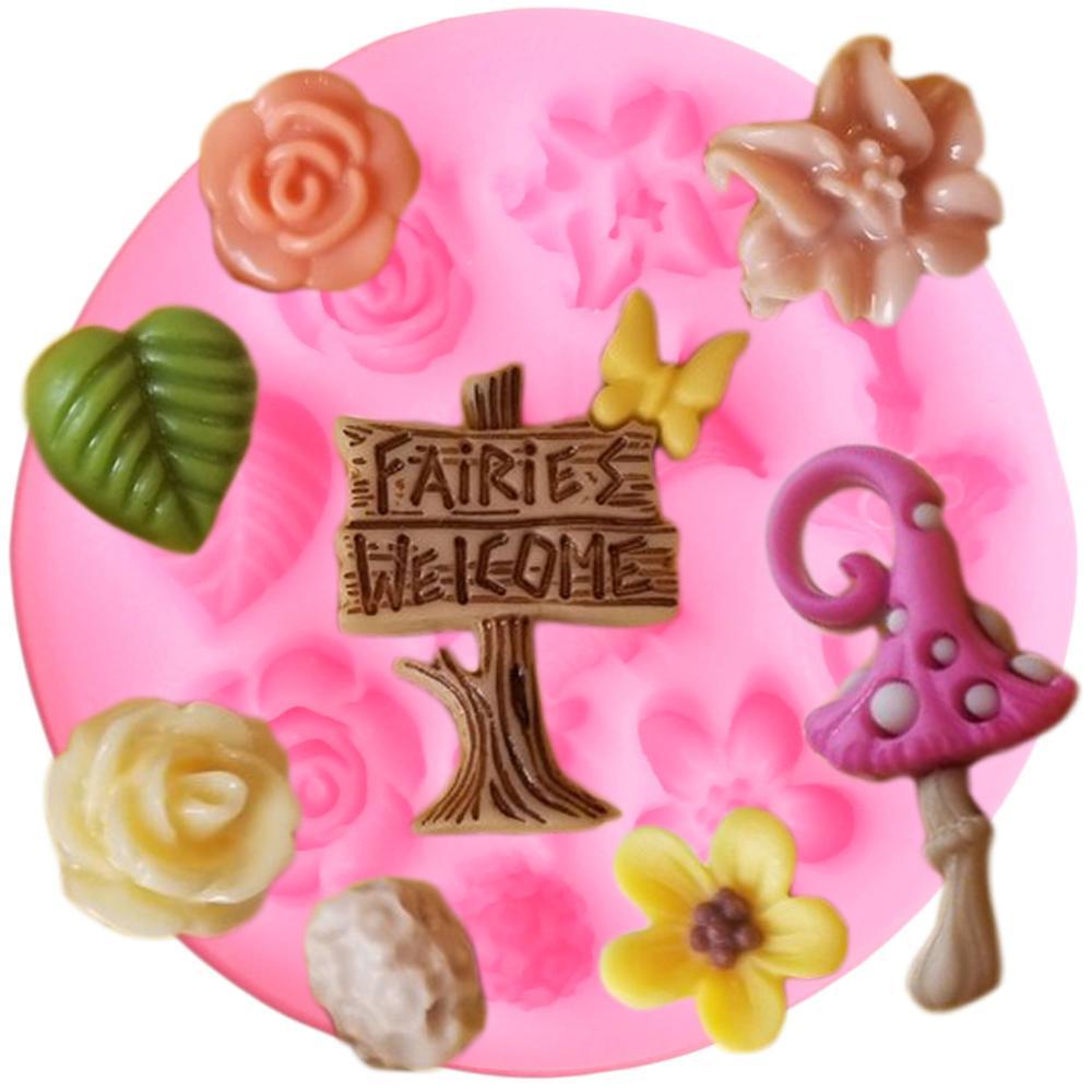 Paisley Cake Fondant Cupcake Decorating Baking Cupcake Templates Stencil TB