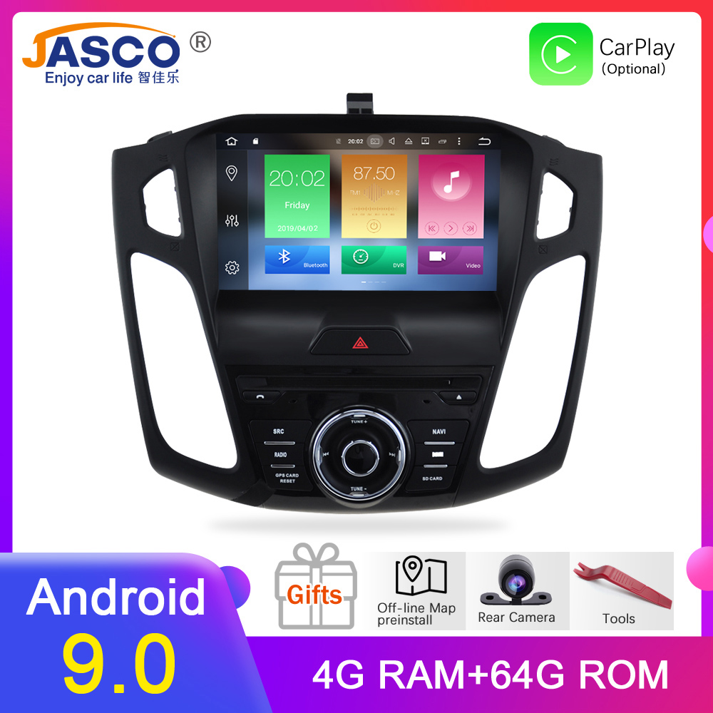 HD 9' Octa Core Android 9.0 Car Radio GPS <font><b>Navigation</b></font> Stereo For <font><b>ford</b></font> <font><b>Focus</b></font> 2015 2016 <font><b>2017</b></font> Auto Audio image