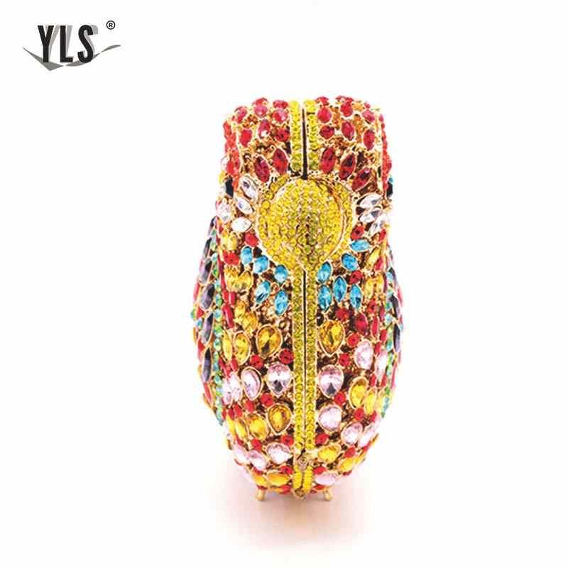 Винтажная женская сумочка клатч, модная оптовая продажа, клатчи и кошельки со стразами и птицами, свадебная сумочка, YLS-A25