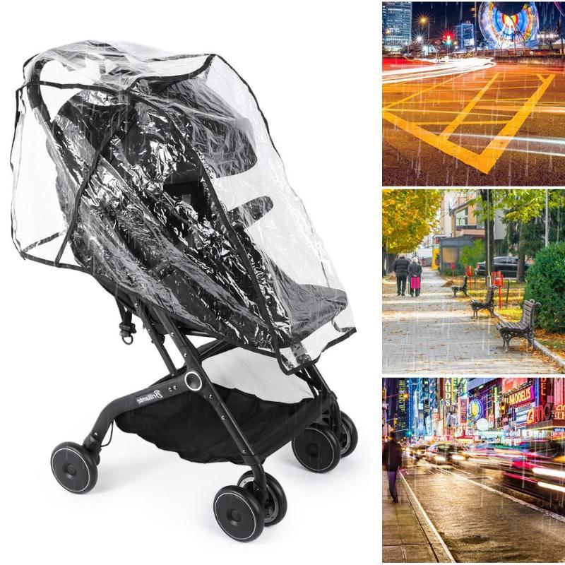 Universal Baby Stroller Waterproof Rain Cover Wind Dust Shield Carrier Raincover