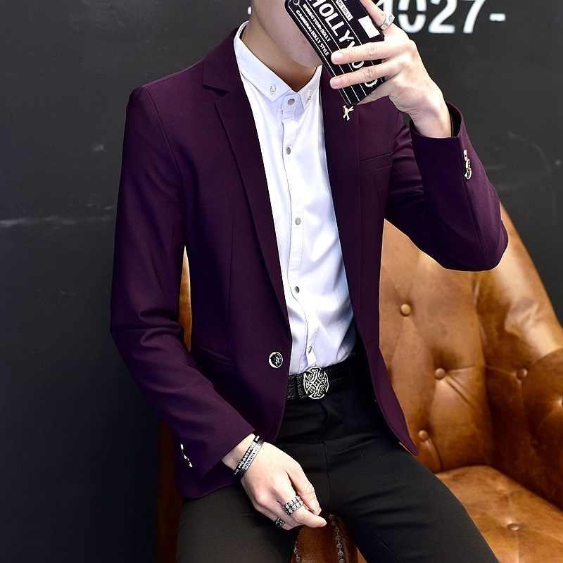 Del Ricamo di modo Giacca Sportiva Degli Uomini di Inghilterra Stile casual Singolo Pulsante Slim Fit Vestito di Giacca Maschile di Marca Ufficio Del Partito Blazer Cappotto M-2XL