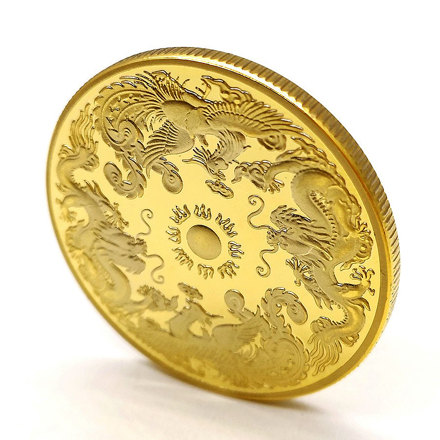 Commemorative Coin Collection Tibet Flying Lion Buddhism Badge Buddhist Indian