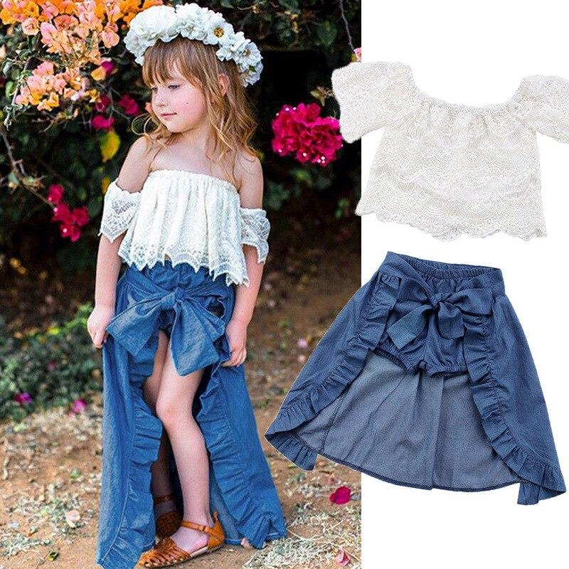 Комплект из 3 предметов для маленьких девочек, 2 цвета, летнее асимметричное стильное платье с открытыми плечами и оборками, футболка + шорты, комплекты одежды