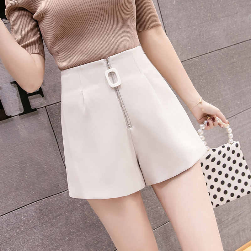 Suit Shorts For Women Fashion Solid High Waist Wide Leg Shorts