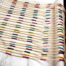 25 Pcs/ Set Fashion Colorful Rice Beads Chain Necklace Women Bohemian Hand Woven Clavicle Choker Pendant Jewelry
