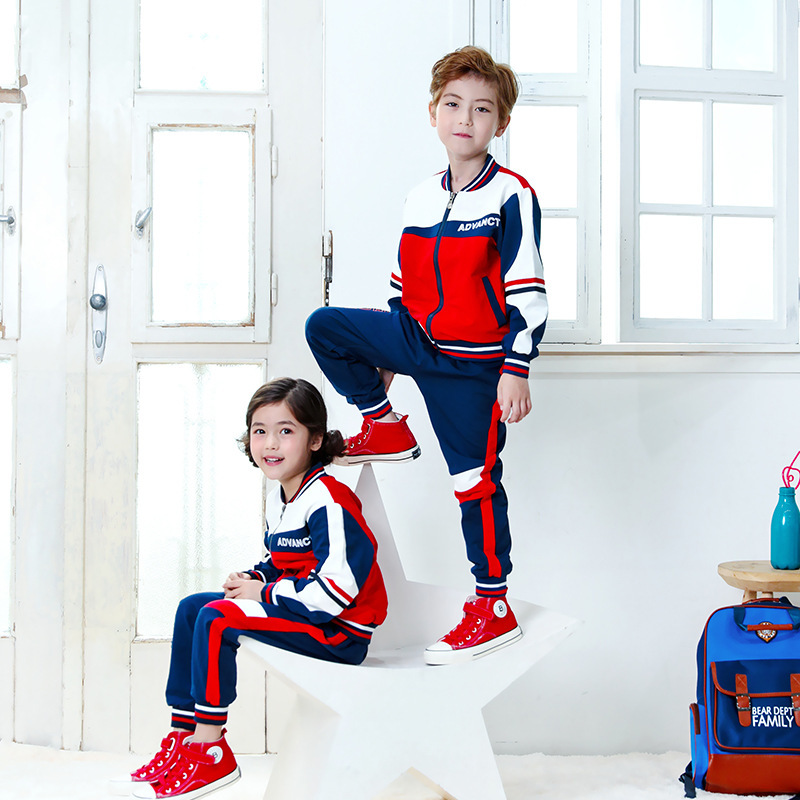 Kindergarten Suit Spring And Autumn 2018 New Style Children Sports Clothing Business Attire Teacher Young STUDENT'S School Unifo