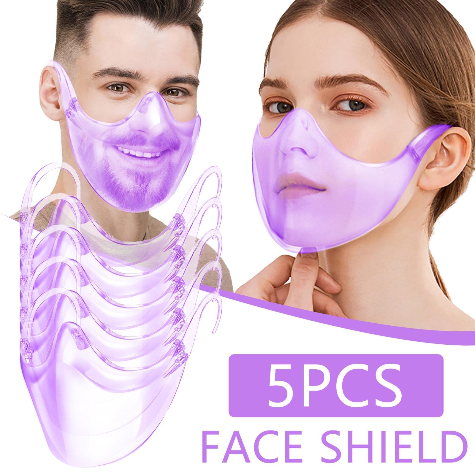 5 шт. прозрачные колпачки для рта прочная маска для лица комбинированная пластиковая многоразовая прозрачная маска для лица Защитная Прозрачная крышка для рта Mascarilla|Маска для велоспорта| | АлиЭкспресс