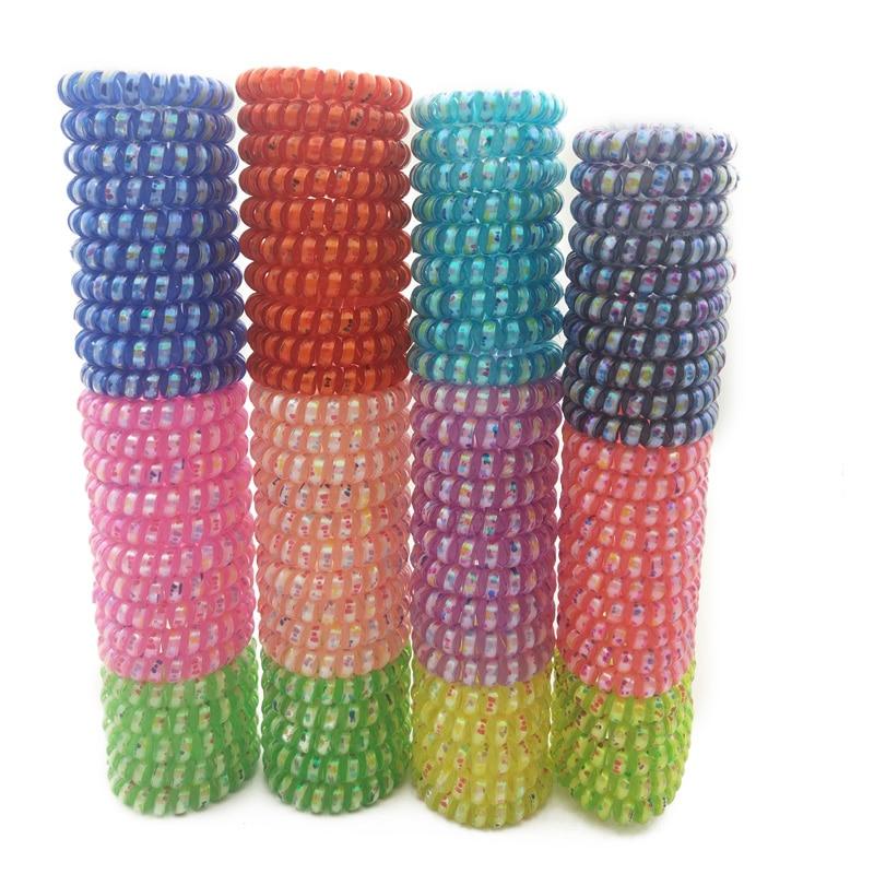 27Pcs Solid Color Girls Elastic Hair Ties Band Ropes Ring Ponytail Holder