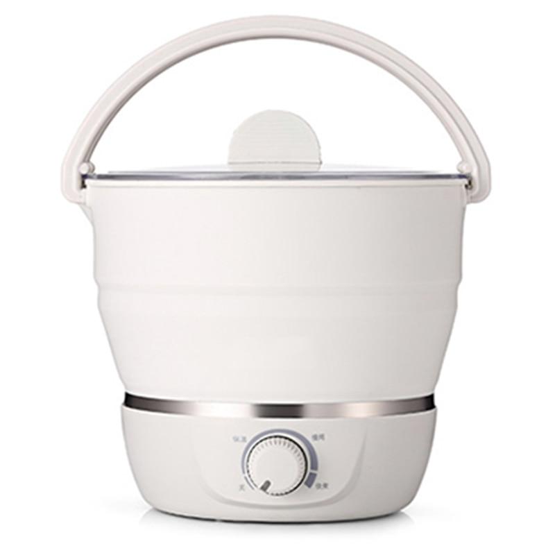 Pliable électrique Hot Pot cuiseur eau vapeur multifonctionnel ménage voyage Portable pliable électrique chaudron batterie de cuisine