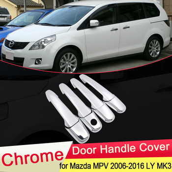 for Mazda 8 MPV 2006 2007 2008 2009 2010 2011 2012 2013 2014 2015 2016 Chrome Door Handle Cover Trim Car Stickers Accessories lsrtw2017 aluminum alloy car door handle trims decoration for jeep wrangler 2008 2009 2010 2011 2012 2013 2014 2015 2016 2017