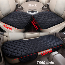 цена на Car Seat Covers Front/ Rear/ Full Set Choose Car Seat Cushion Linen Fabric Car Accessories Universal Size Anti-slip cover set