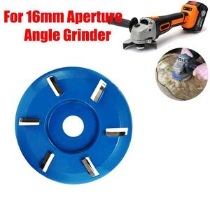Image 5 - Four/Six Tooth Red/Blue Power Wood Carving Disc Tool Milling Cutter For 16mm Aperture Angle Grinder Diameter 90mm Polishing