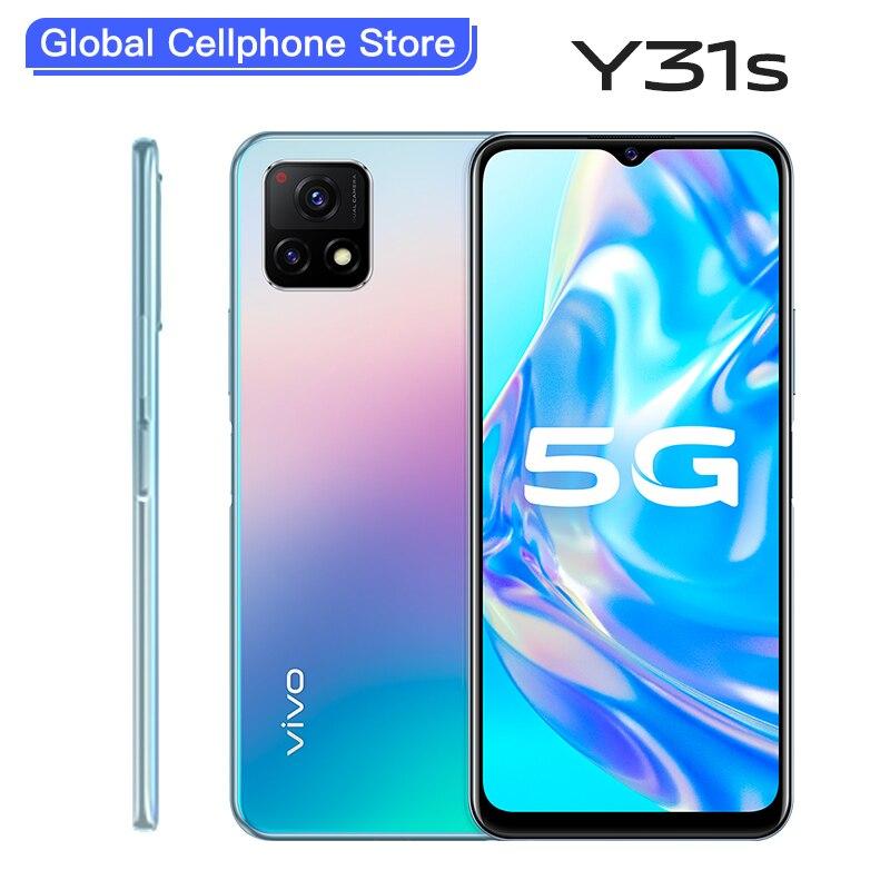 Vivo-Teléfono Móvil Inteligente Y31s, 5G, Snapdragon 480, batería de 5000mAh, 18W, 90Hz, 6,58 pulgadas, cámaras de 13.0mp, identificación facial, Android 11