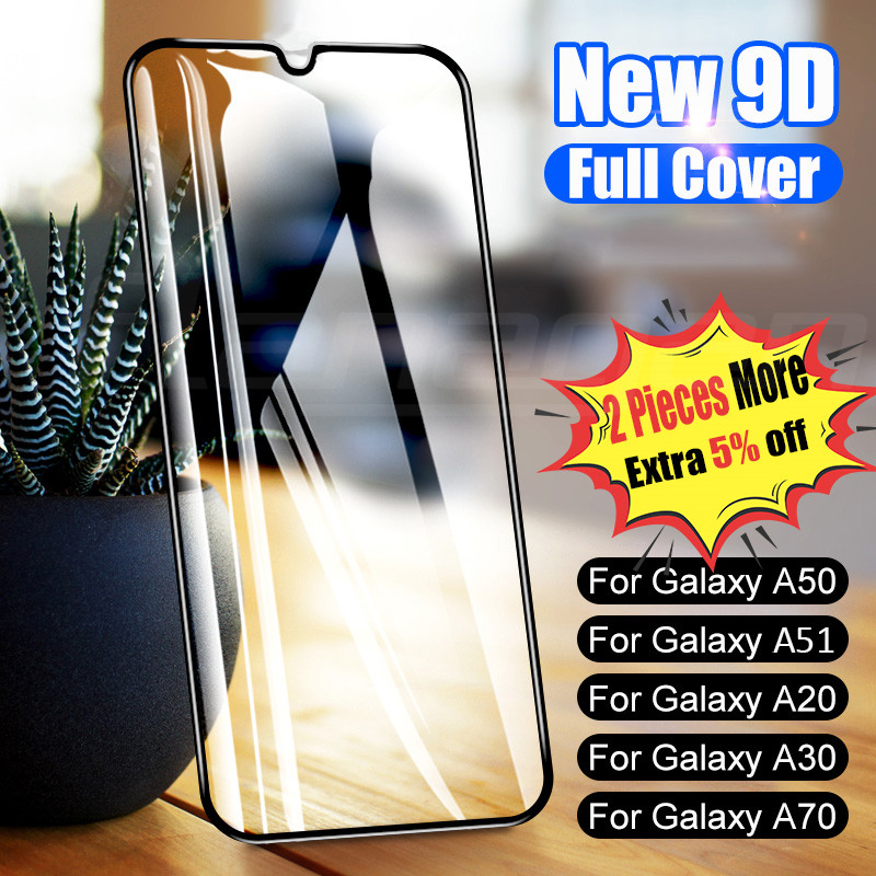 Glass-On Tempered-Glass Protective A30 A20E A80 Samsung A10 M20 A51 M10 9D for Galaxy