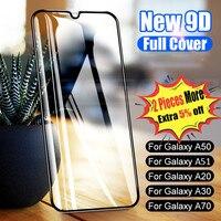9D Schutz Glas Auf Für Samsung Galaxy A50 A40 A30 A10 A20E A60 A70 A80 A90 Gehärtetem Glas Für Samsung m10 M20 A20 A51-in Handybildschirm-Schutz aus Handys & Telekommunikation bei