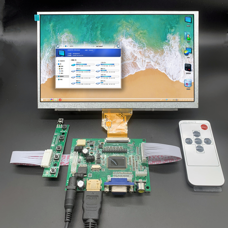 9 inch 800*480 AT090TN10 HDMI Screen LCD <font><b>Display</b></font> Driver Board Monitor for <font><b>Raspberry</b></font> <font><b>Pi</b></font> B + 2 3 Banana/Orange <font><b>Pi</b></font> Mini computer image