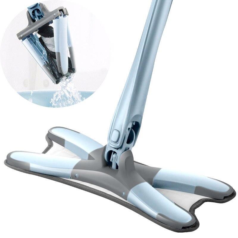 Швабра X-type 360 для чистки, легкая вращающаяся Швабра для мытья пола, волшебная ткань из микрофибры, плоская ручка, накладки для швабры от пыли,...