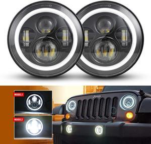 Image 1 - Para Nissan patrulla Y60 Hummer H1 y H2 Lada 4X4 7 pulgadas LED faro DRL para Jeep Wrangler TJ JK LJ CJ 7 pulgadas para Land Rover Defender
