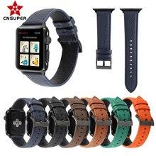 Cnsuper Топ Стиль litchi кожаный ремешок для часов apple watch