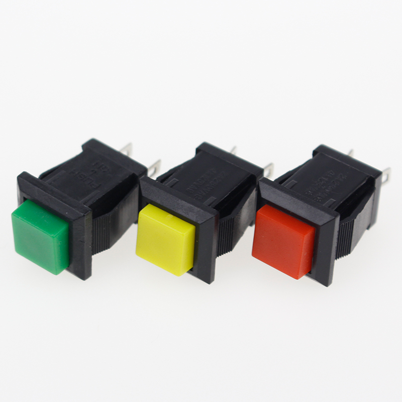 6PCS ON-OFF Momentary/Latching Square Push ON Switch 2A 250V/4A 125V AC Electric Switch DS-429